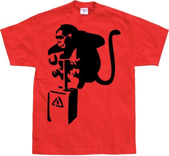 Stylové pánské triko s humorným potiskem Detonator Monkey