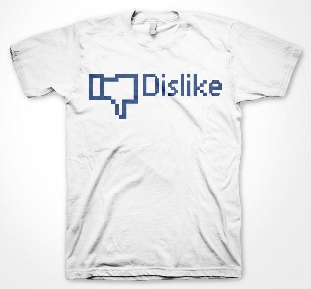 Stylové pánské triko s humorným potiskem Dislike