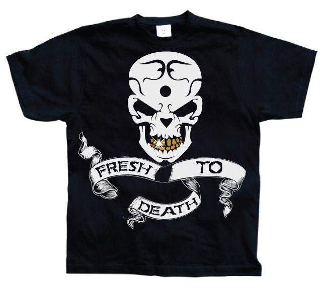 Stylové pánské triko s humorným potiskem Fresh To Death