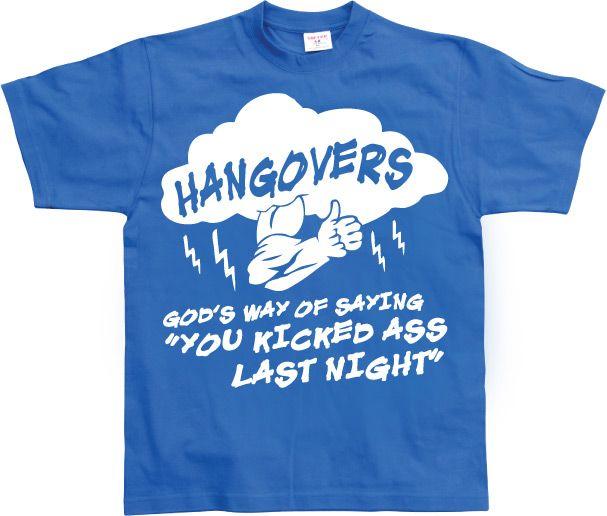 Stylové pánské triko s humorným potiskem Hangovers - God´s Way