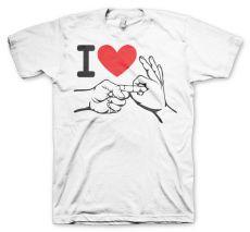 Pánské tričko I Love To Make Love