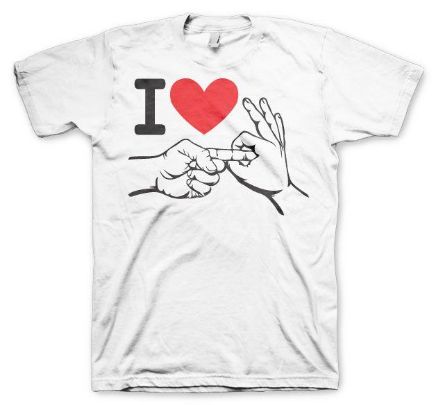 Stylové pánské triko s humorným potiskem I Love To Make Love