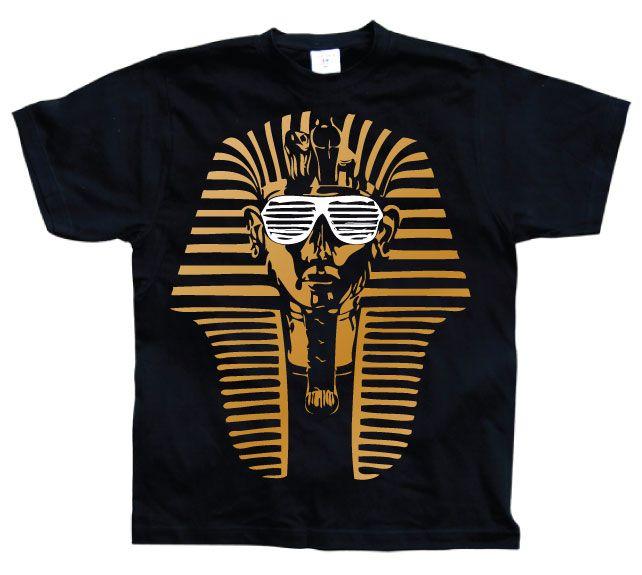 Stylové pánské triko s humorným potiskem King Tut With Kanye Shades