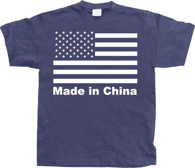 Stylové pánské triko s humorným potiskem Made In China