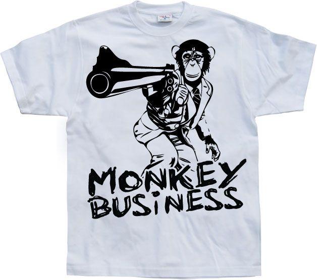Stylové pánské triko s humorným potiskem Monkey Business