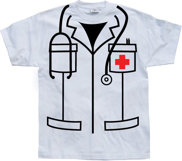 Stylové pánské triko s humorným potiskem Nurse Cover Up
