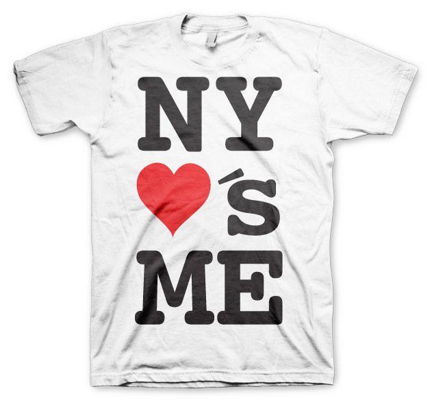 Stylové pánské triko s humorným potiskem NY Loves Me!