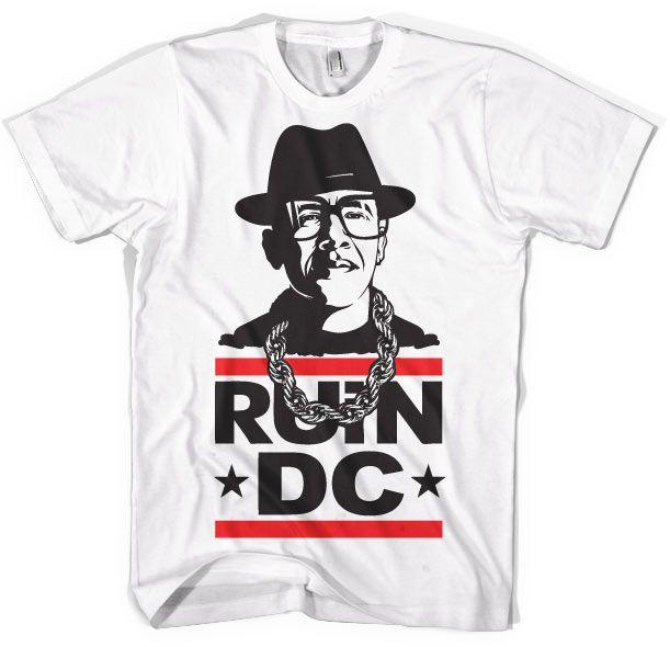 Stylové pánské triko s humorným potiskem Ruin DC