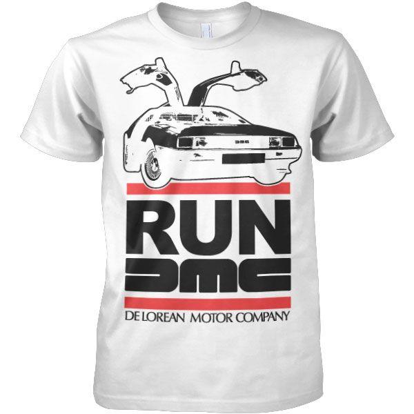 Stylové pánské triko s humorným potiskem Run De Lorean