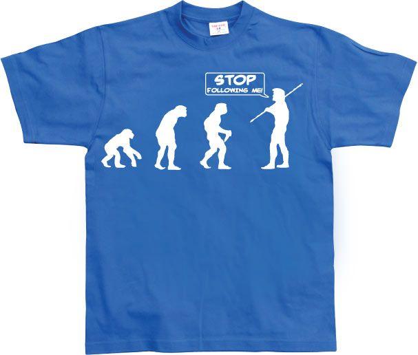 Stylové pánské triko s humorným potiskem Stop Following Me!