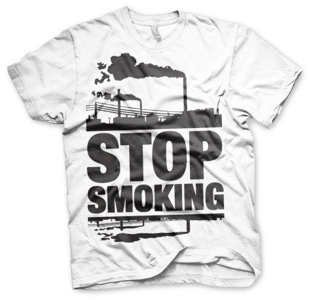 Stylové pánské triko s humorným potiskem Stop Smoking ad1b861f23