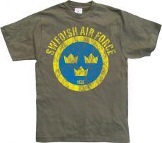 Pánské tričko Swedish Airforce Distressed