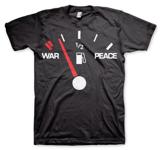 Stylové pánské triko s humorným potiskem War & Peace Gauge