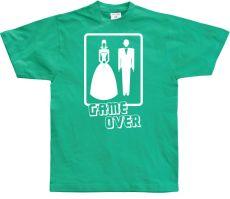 Pánské tričko Wedding - GAME OVER!