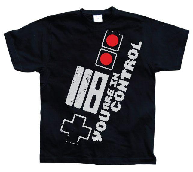 Stylové pánské triko s humorným potiskem You Are In Control