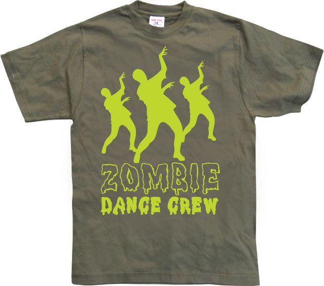 Stylové pánské triko s humorným potiskem Zombie Dance Crew