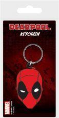 Marvel Comics Gumový Keychain Deadpool Face 6 cm Pyramid International