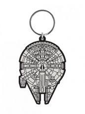 Star Wars Gumový Keychain Millennium Falcon 6 cm Pyramid International
