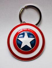 Marvel Comics Metal Keychain Captain America Shield Semic