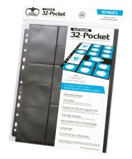 Ultimate Guard 32-Pocket Pages Standard Velikost & Mini American Black (10)