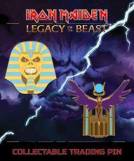 Iron Maiden Legacy of the Beast 2-pack Pin Odznak Trooper Pharaoh & Aset