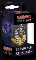 Iron Maiden Legacy of the Beast PVC Přívěsek na klíče Pharaoh Head 8 cm