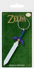 Legend of Zelda Gumový Keychain Master Sword 6 cm