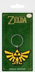 Legend of Zelda Gumový Keychain Triforce 6 cm