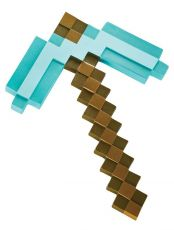 Minecraft Plastic Replika Diamond Pickaxe 40 cm