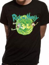 Rick and Morty Tričko Black Portal Velikost L