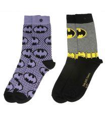 DC Comics Dámské Ponožky 2-Pack Batman Purple