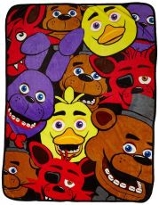 Five Nights at Freddy's Fleece Deka Characters 122 x 153 cm