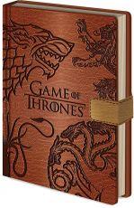 Game of Thrones Premium Poznámkový Blok A5 Sigils
