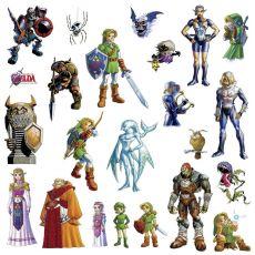 The Legend of Zelda Giant Vinyl Nástěnná Nálepka Set Ocarina of Time 3D