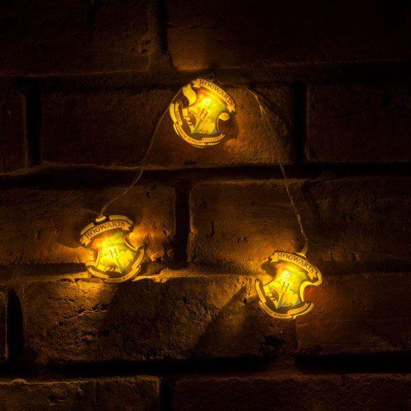 Harry Potter String Lights Bradavice Crests Groovy