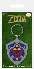Legend of Zelda Gumový Přívěsek na klíče Hylian Shield 6 cm