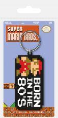 Super Mario Bros. Gumový Keychain Born in the 80's 6 cm