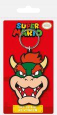 Super Mario Gumový Keychain Bowser 6 cm