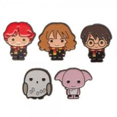 Harry Potter Pin Placky 5-Pack Harry Hedwig Dobby Ron Hermione