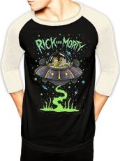 Rick and Morty Baseballová Long Sleeve Shirt Spaceship Velikost L