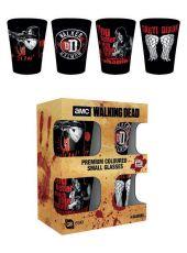 Walking Dead Premium Sada Panáků 4-Pack Daryl Dixon