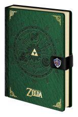 Legend of Zelda Premium Poznámkový Blok A5 Triforce New Verze