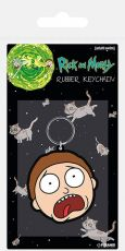 Rick & Morty Gumový Keychain Morty Terrified Face 6 cm