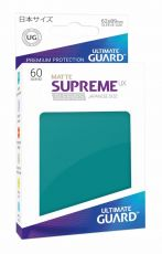 Ultimate Guard Supreme UX Sleeves Japanese Velikost Matte Petrol Blue (60)