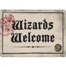 Harry Potter Tin Sign Wizards Welcome 21 x 15 cm