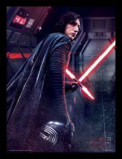 Star Wars Episode VIII Zarámovaný Plakát Kylo Ren Rage 45 x 33 cm