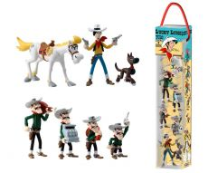 Lucky Luke Mini Figurky 7-Pack Characters 4 - 10 cm