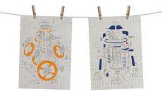 Star Wars Episode VIII Tea Ručník 2-Set Droids Exploded View