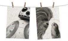 Star Wars Episode VIII Tea Ručník 2-Set Sketch