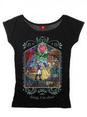 Beauty and the Beast Dámské Tričko Window Girl Velikost L